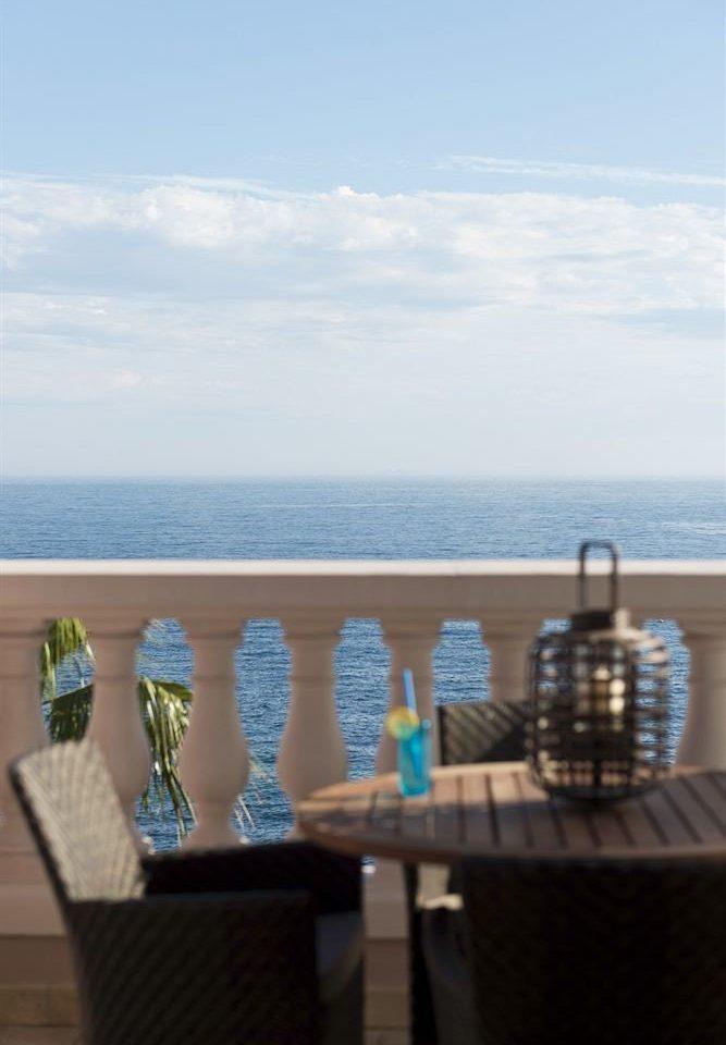 sky water blue Sea overlooking shore