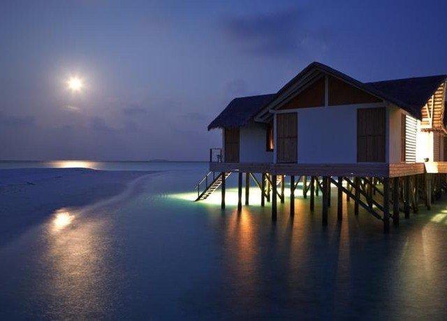 water sky house night Sea evening dusk sunlight