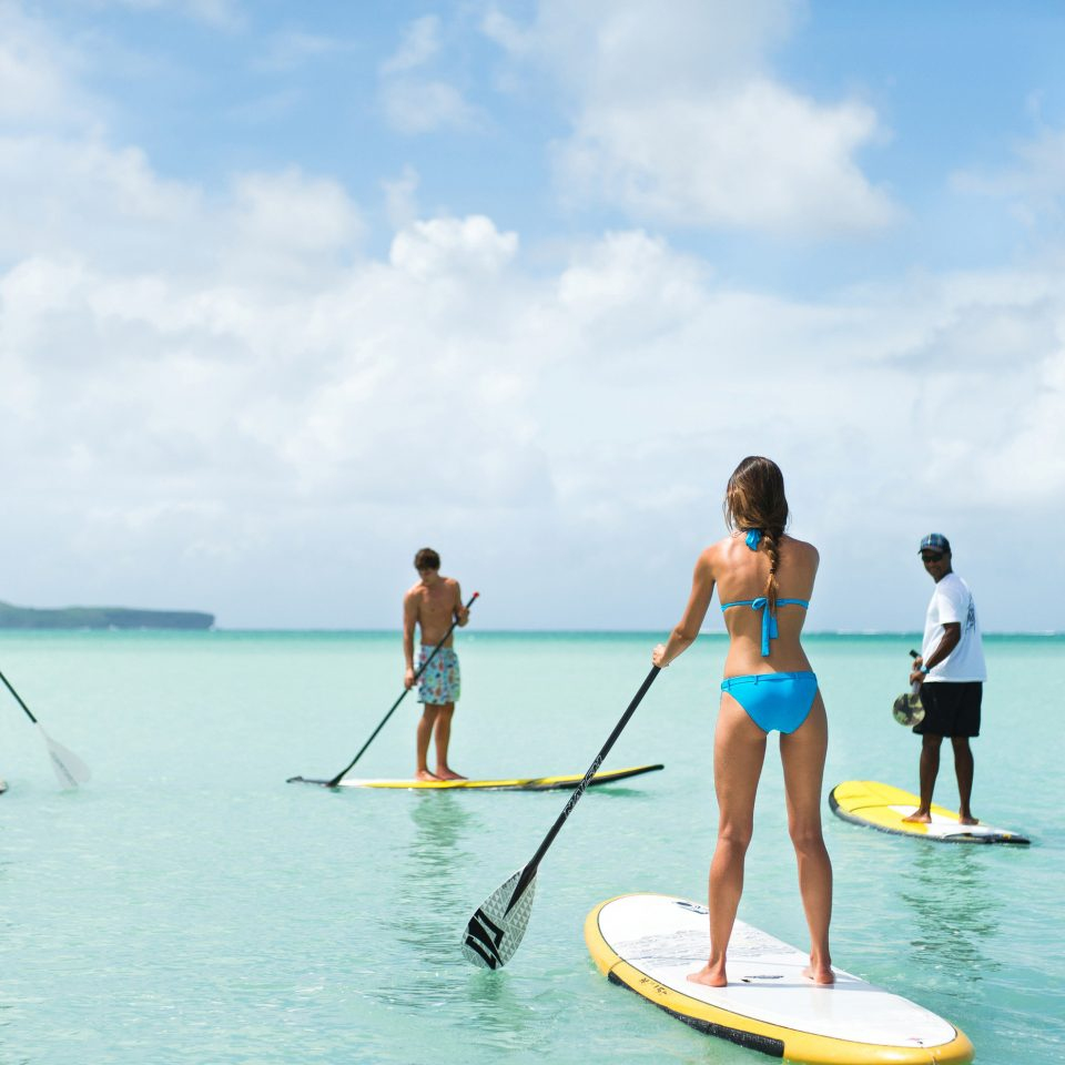 sky water water sport sports leisure stand up paddle surfing surface water sports Sea paddle