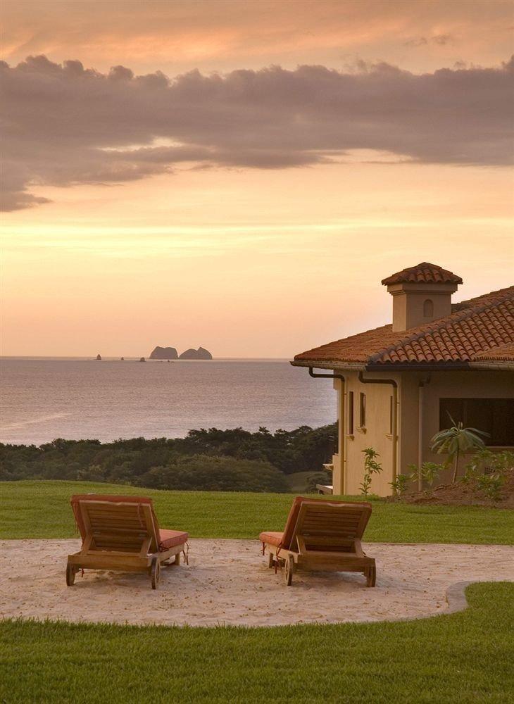grass sky bench Sunset morning landscape rural area Sea evening dusk