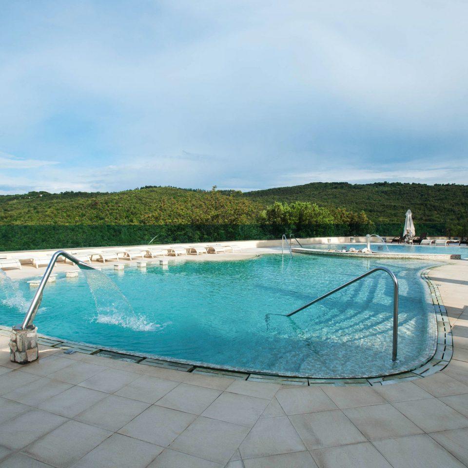 sky ground water swimming pool leisure Sea dock backyard Villa blue tied