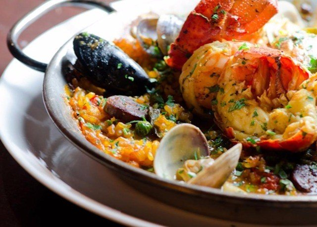 food plate cuisine vegetable Seafood paella mussel bouillabaisse asian food
