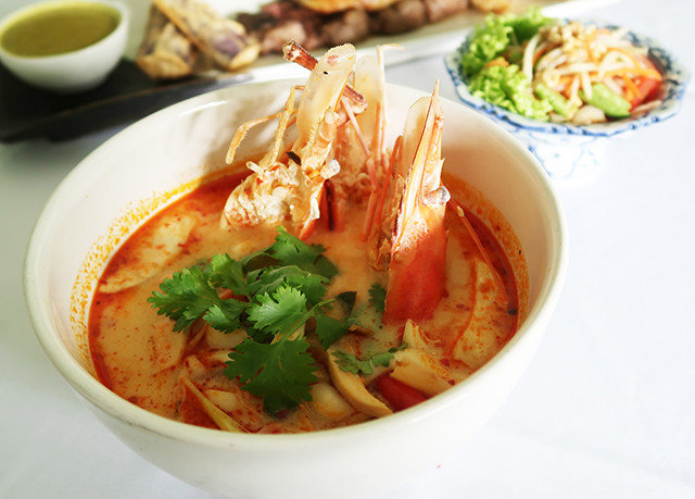 plate food bowl noodle soup cuisine asian food soup laksa thai food fish curry southeast asian food noodle vegetable Seafood chinese food containing