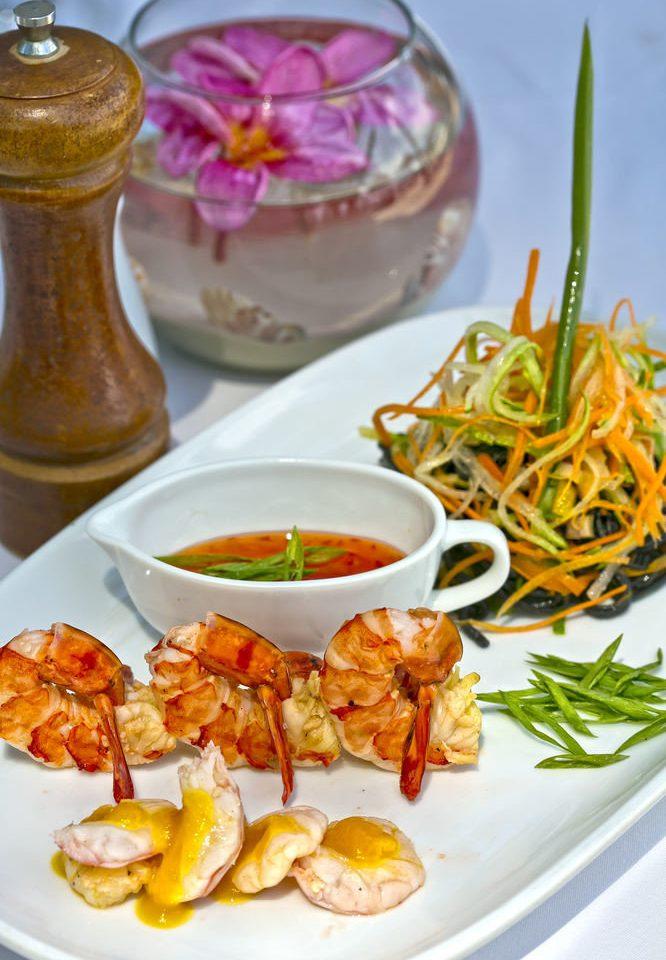 food plate cuisine breakfast hors d oeuvre thai food lunch asian food Seafood vegetable vegetarian food piece de resistance