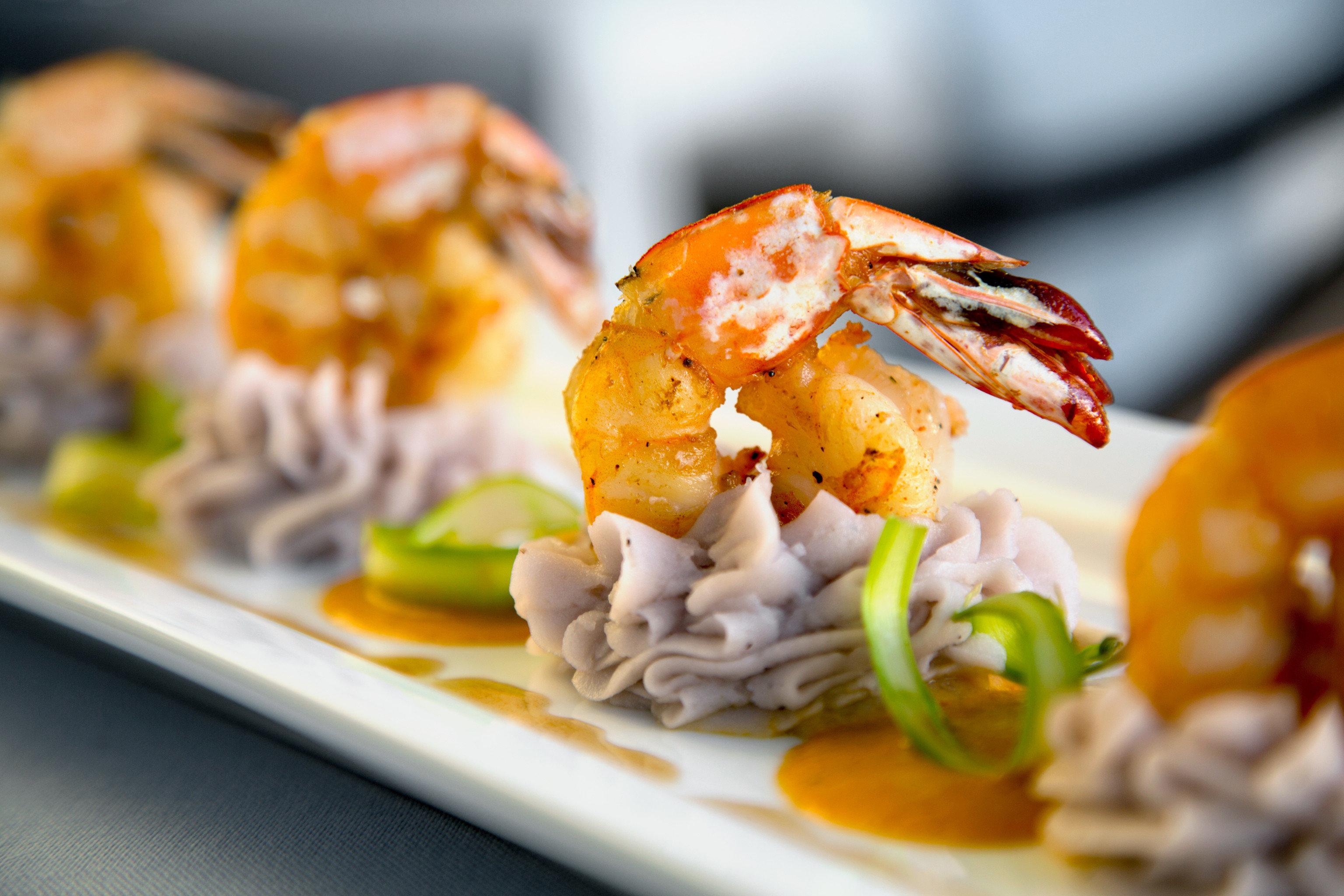 food plate cuisine Seafood asian food thai food shrimp invertebrate close