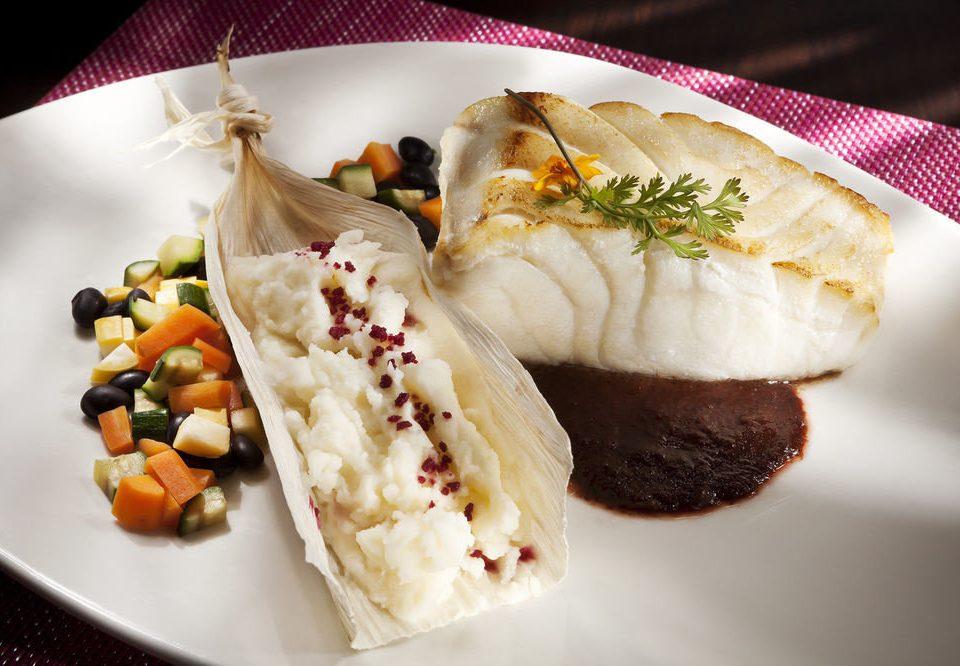plate food cuisine white sense Seafood asian food dessert