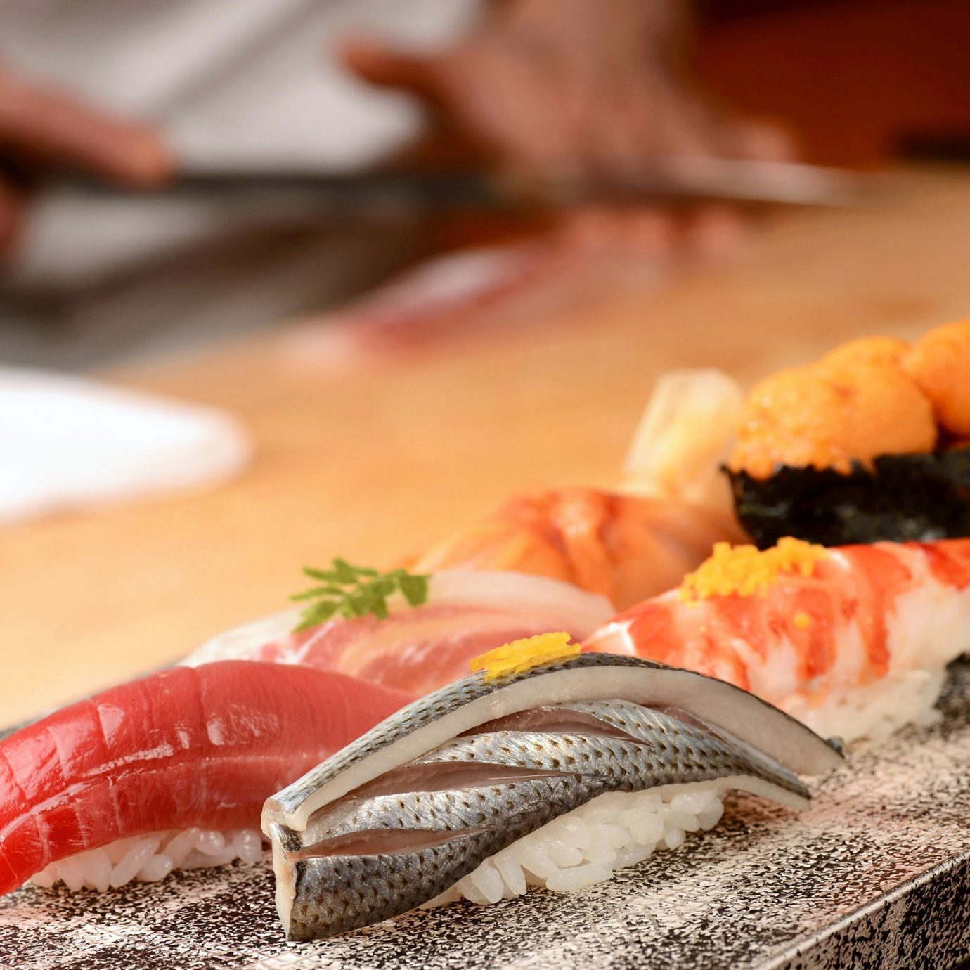 food sushi cuisine wooden asian food piece fish Seafood