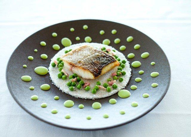 plate food black fish Seafood dishware
