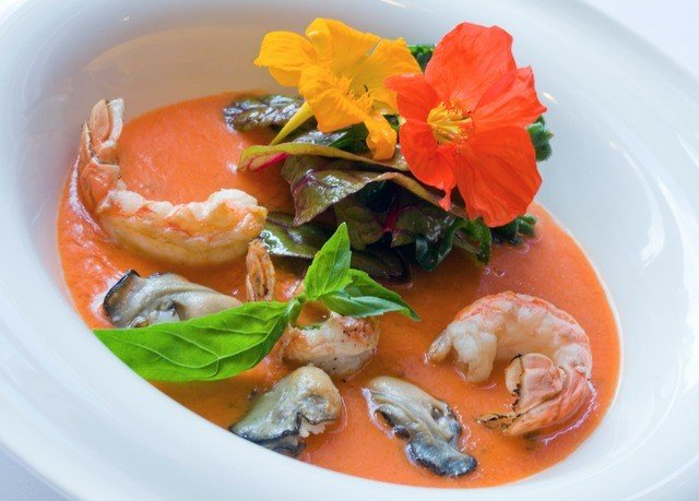 plate food bouillabaisse Seafood cuisine fish smoked salmon thai food invertebrate scampi soup