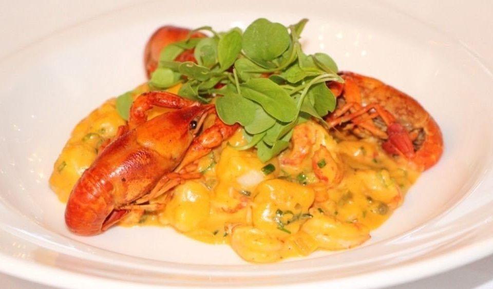 plate food white cuisine italian food vegetable european food spaghetti Seafood meat scampi pasta sauce dinner shrimp cooked piece de resistance