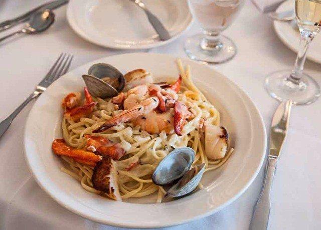 plate food cuisine spaghetti italian food european food Seafood piece de resistance