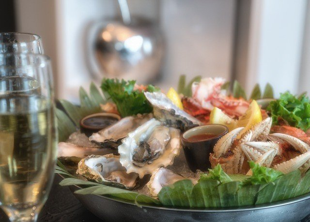 food Seafood cuisine fish mussel restaurant plant