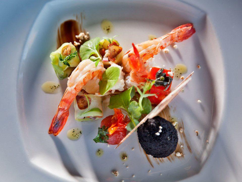 plate food cuisine salad hors d oeuvre Seafood vegetable piece de resistance