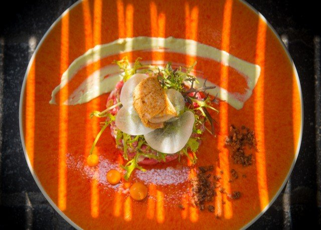 food cuisine Seafood orange soup vegetable