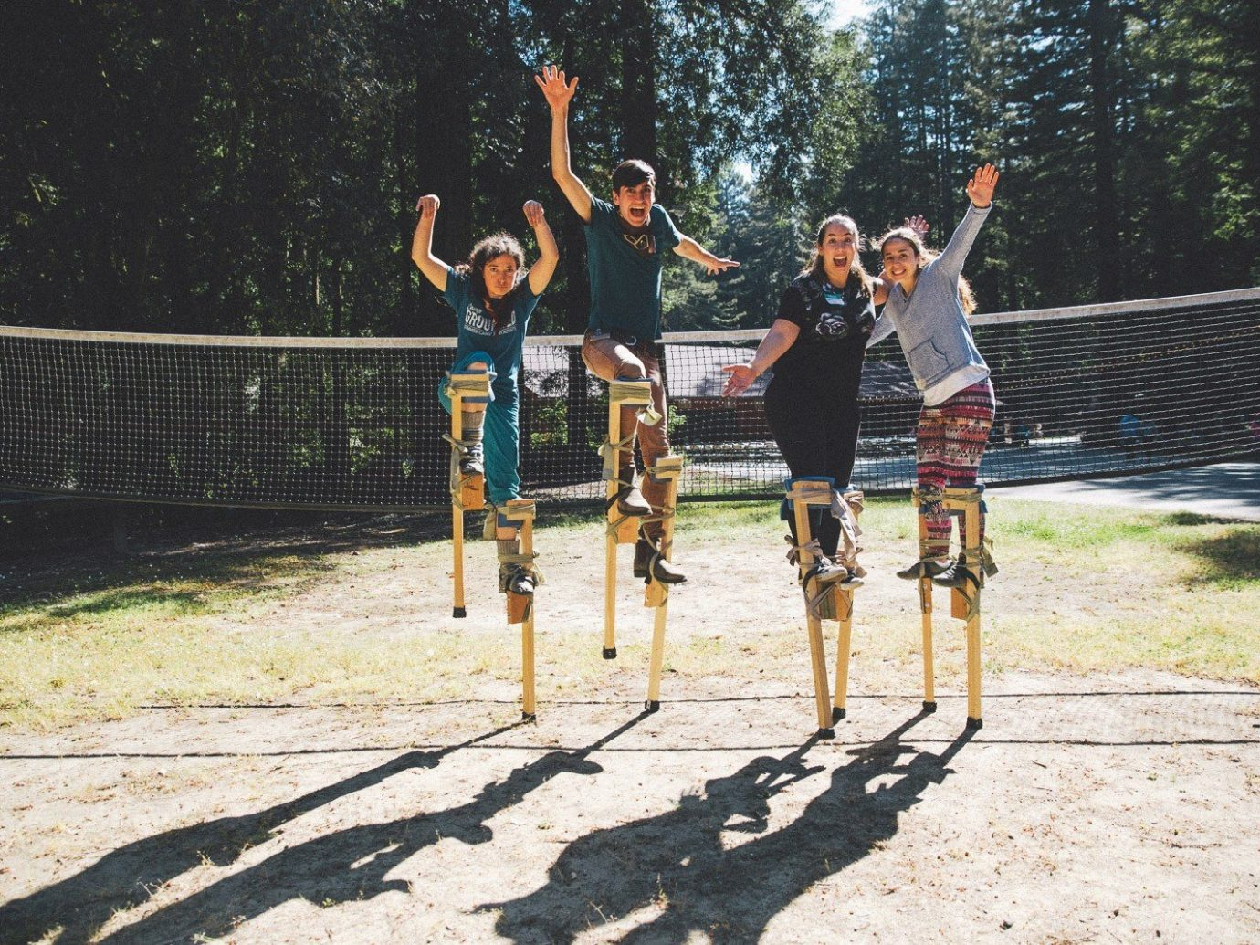 Offbeat outdoor ground tree person Sport sports endurance sports jumping cyclo cross duathlon