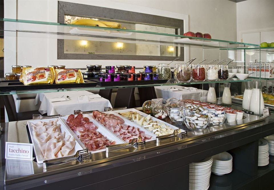 bakery food grocery store delicatessen counter retail fast food buffet restaurant breakfast cafeteria fast food restaurant cluttered Shop