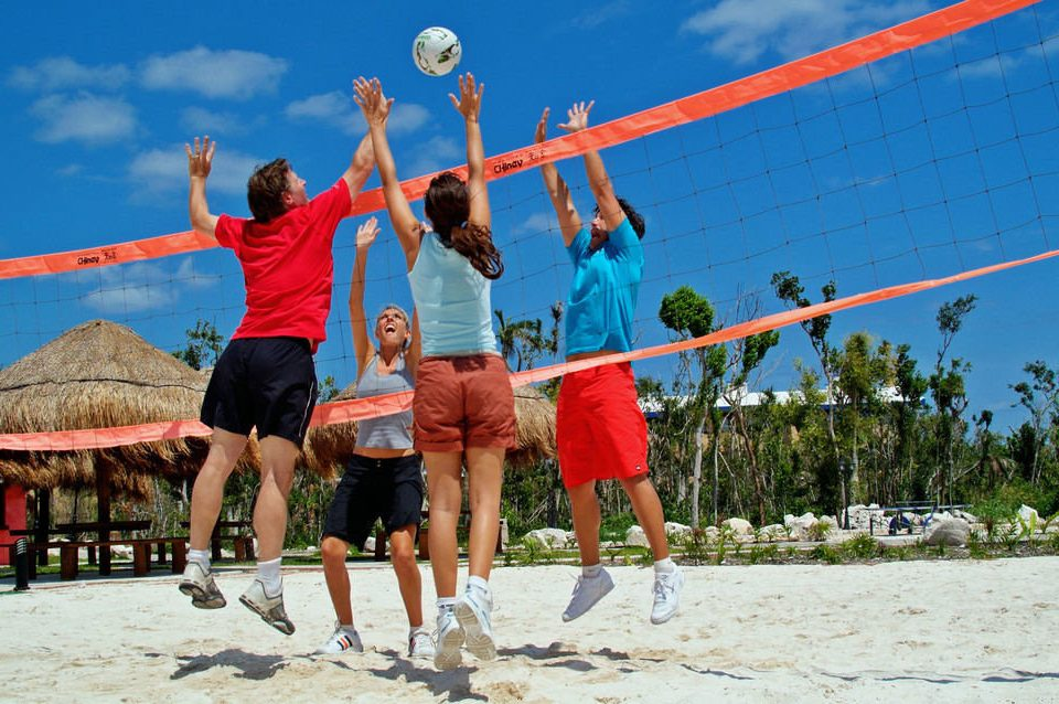 sky Sport athletic game sports orange volleyball beach volleyball ball over a net games