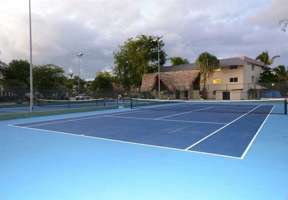athletic game sky Sport road structure tennis tennis court court sport venue leisure centre sports baseball field net blue