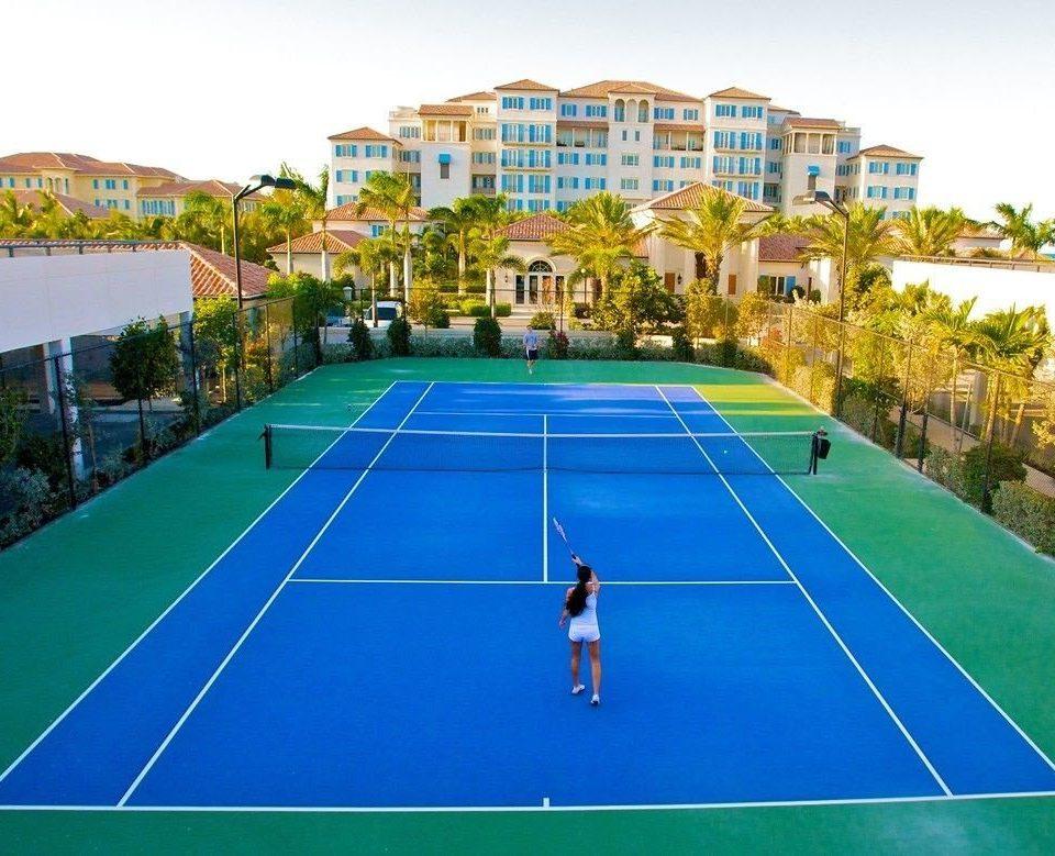 Sport athletic game sky structure tennis sport venue blue sports leisure centre tennis court leisure racquet sport net