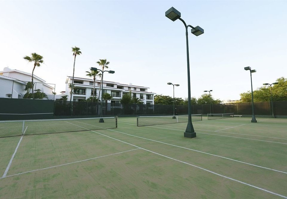 sky athletic game Sport structure sport venue tennis court stadium residential area lighting race track street light tennis