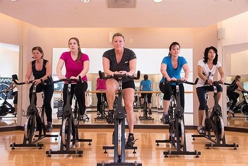 human action indoor cycling Sport structure group bodypump sport venue sports muscle gym physical fitness physical exercise weight training posing
