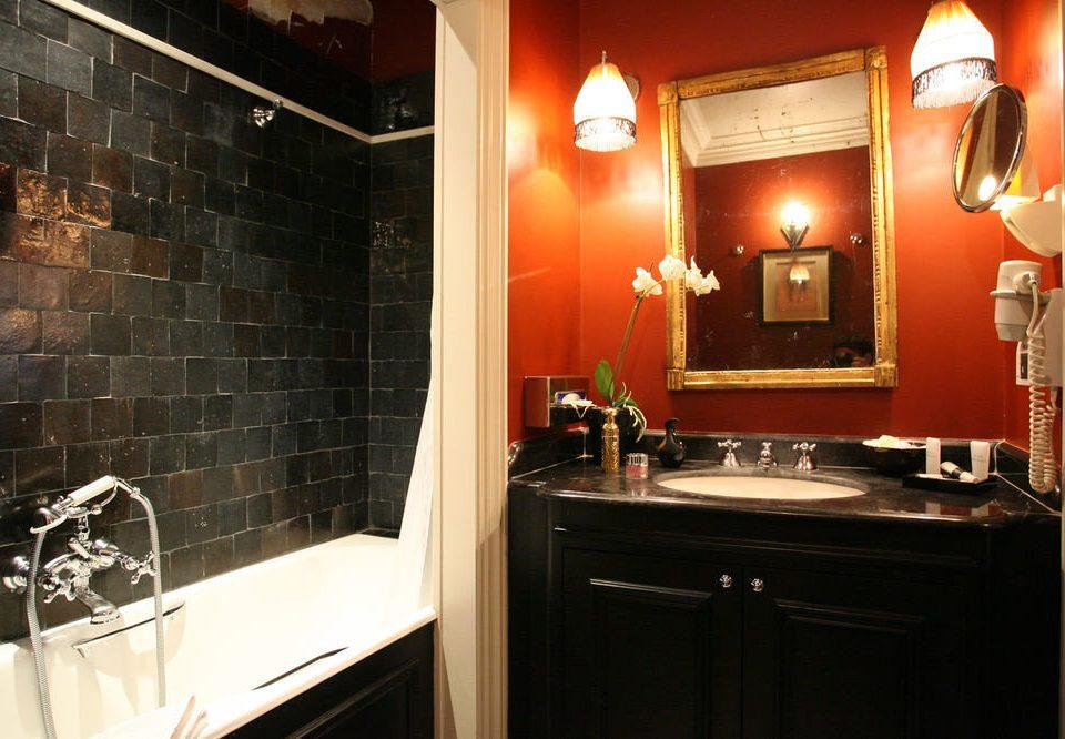 bathroom property sink black home Suite light toilet tile