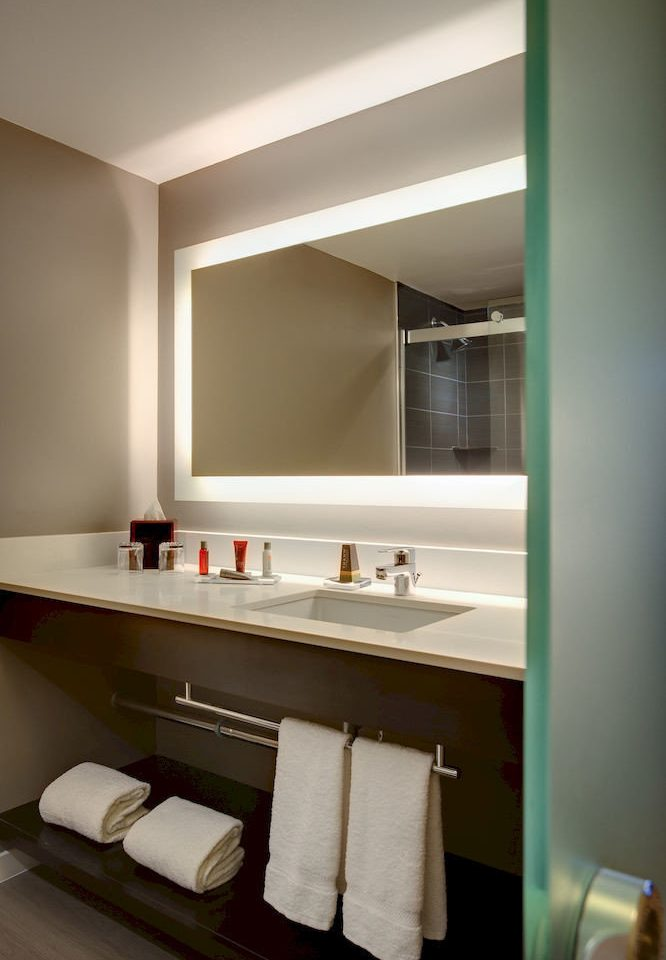 bathroom sink mirror home lighting cabinetry Suite