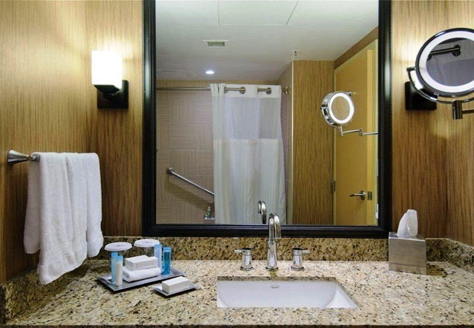 bathroom mirror sink property towel Suite plumbing fixture home public toilet double clean rack