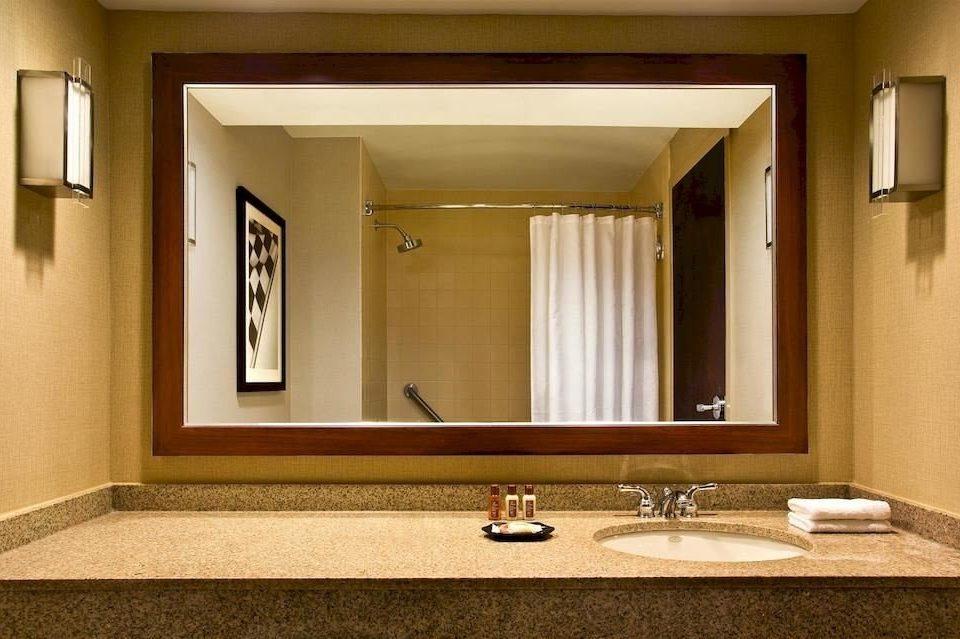 bathroom mirror sink property home vanity Suite flooring hall living room double clean tan