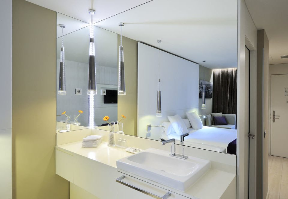 property home sink lighting condominium bathroom Suite counter