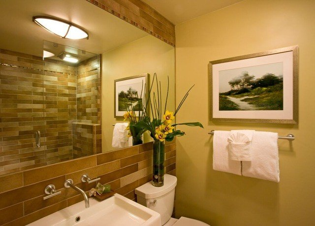 bathroom mirror sink property home condominium living room Suite