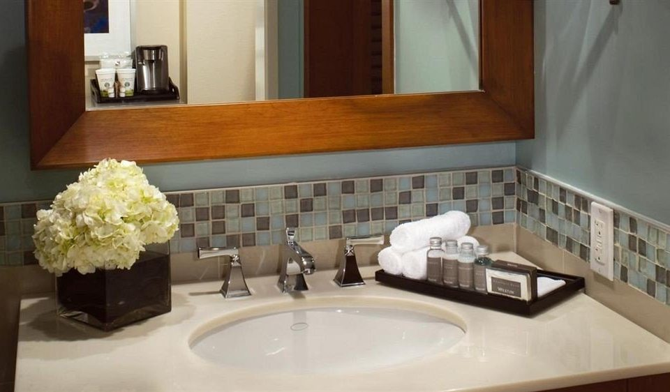 bathroom sink mirror property home countertop counter flooring cottage Suite