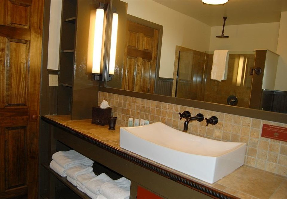 bathroom sink mirror property Suite counter home cottage