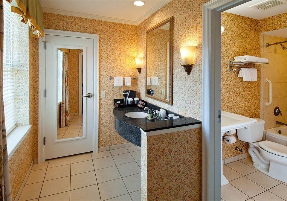 bathroom property sink Suite home plumbing fixture cottage flooring tile tiled