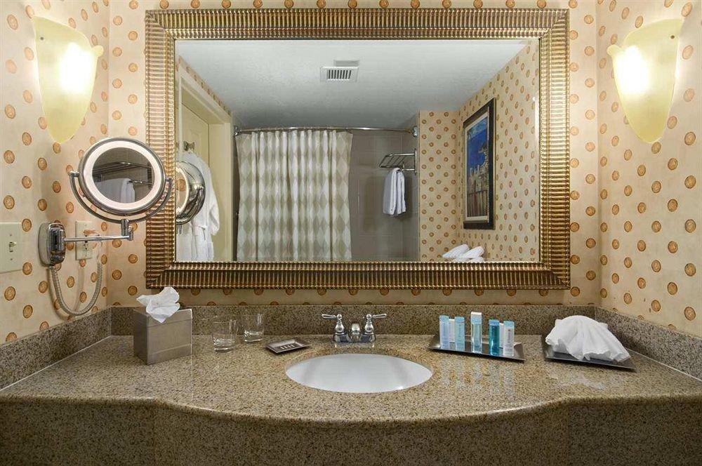 bathroom mirror sink property home Suite towel mansion swimming pool cottage flooring