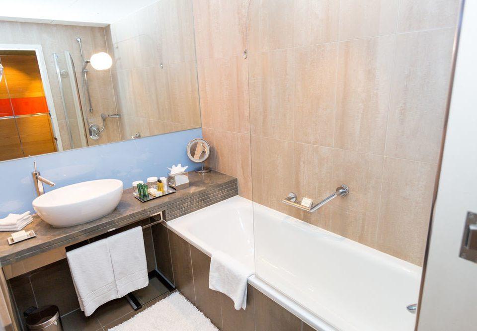 bathroom property sink house home Suite cottage vessel tan