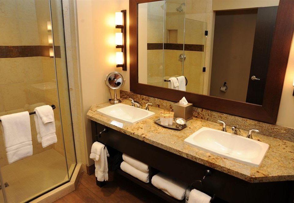 bathroom mirror sink property Suite home light cottage plumbing fixture