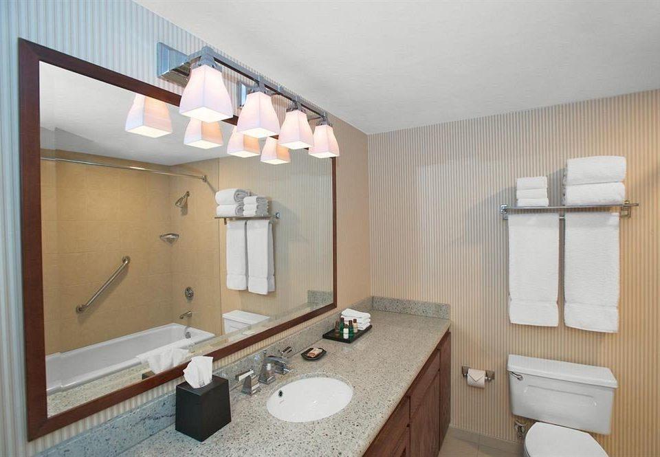 bathroom mirror sink property home towel Suite cottage vanity toilet rack tan