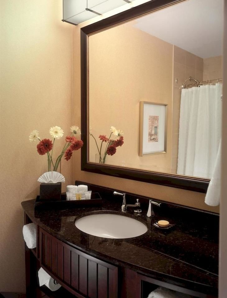 bathroom mirror sink property home Suite cottage