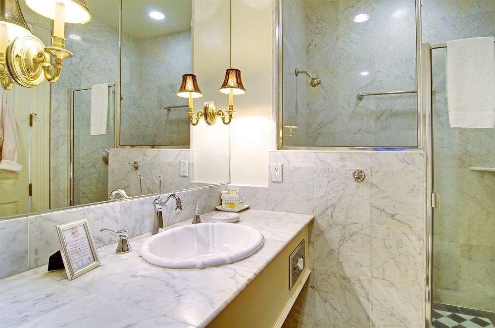 bathroom property sink Suite home plumbing fixture cottage tan