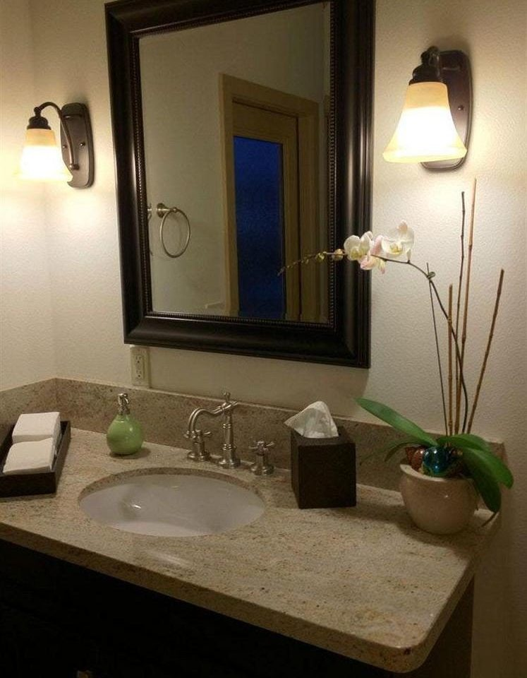 bathroom mirror sink property house home Suite lighting counter living room