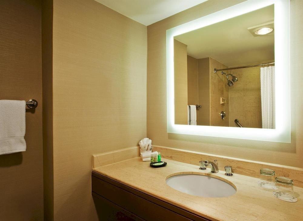 bathroom mirror sink property towel home Suite vanity light double tan rack