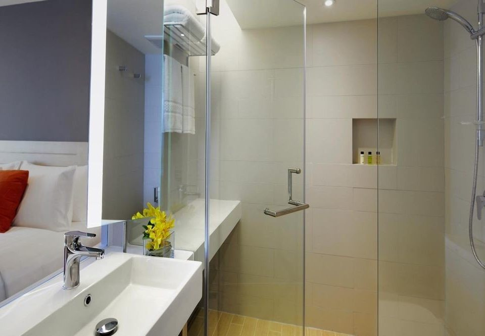 bathroom mirror property sink home Suite flooring vessel toilet