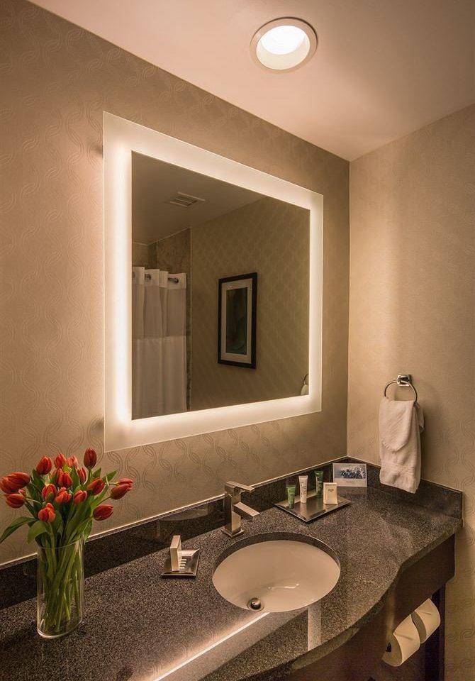 bathroom mirror sink property home Suite living room
