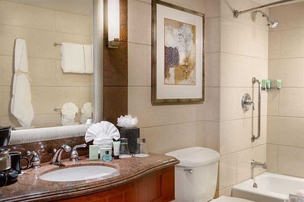 bathroom sink mirror property home towel Suite toilet tile