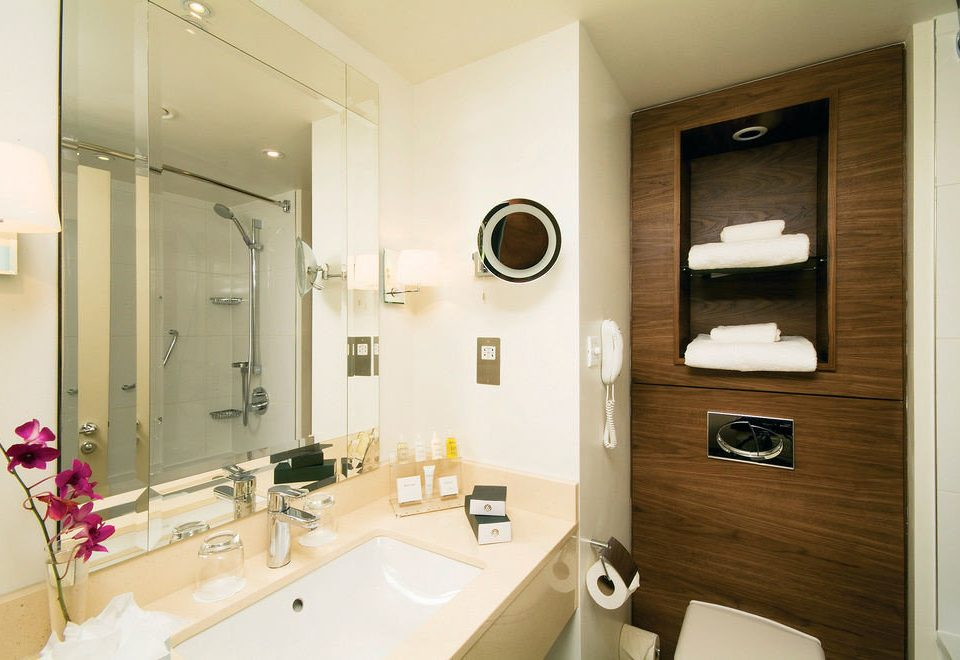 bathroom mirror sink property toilet home Suite