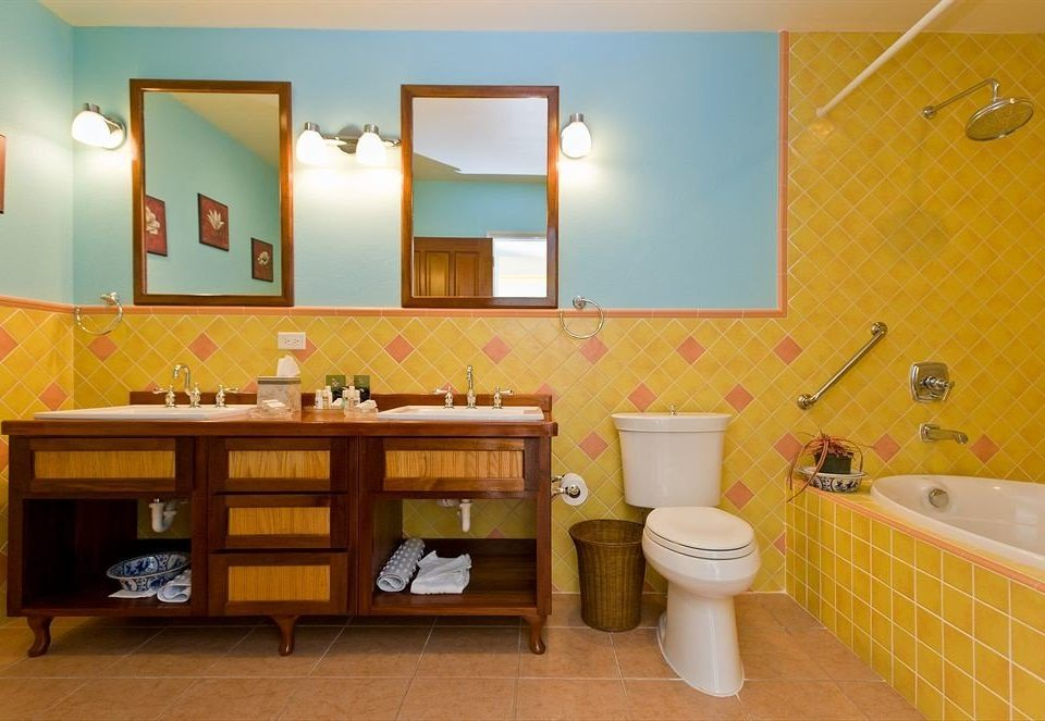 yellow property bathroom home sink Suite