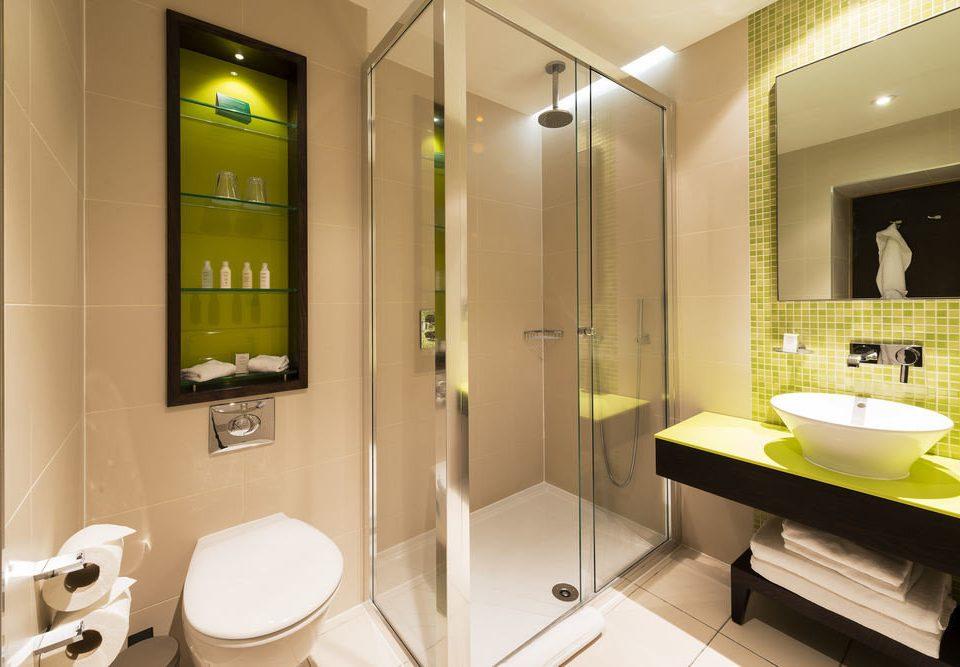 bathroom mirror sink toilet Suite plumbing fixture public toilet