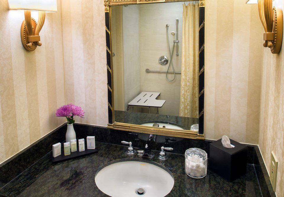 bathroom mirror sink property vanity Suite plumbing fixture toilet towel