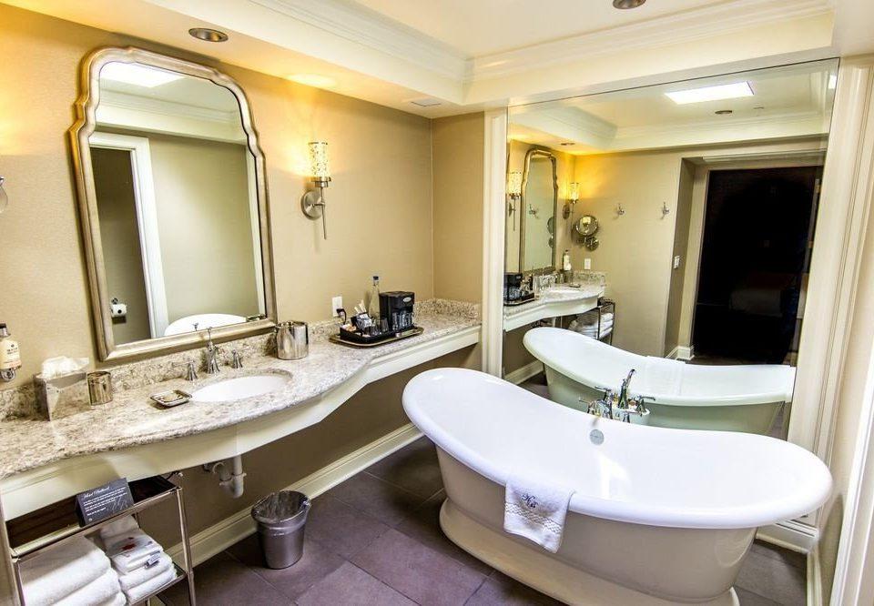 bathroom sink mirror property Suite toilet tub tan